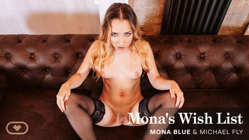 Mona's Wish List feat. Mona Blue, Michael Fly - VR Porn Video