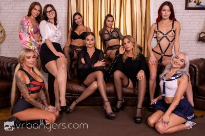 The Harlot's House: Black Friday in Europe Part 2 - Antonia Sainz, Barbara Bieber, Cindy Shine, Daisy Lee, Jennifer Jane, Leidy De Leon, Marilyn Sugar, Sofia Lee, Tina Kay - VR Porn - Image 2