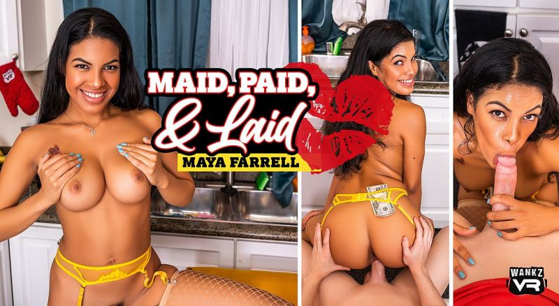 Maid Paid And Laid feat. Maya Farrell - VR Porn Video