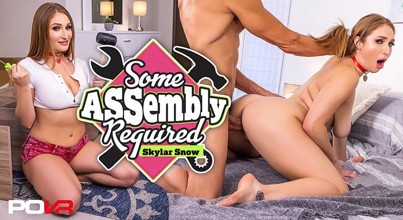 Some ASSembly Required feat. Skylar Snow - VR Porn Video