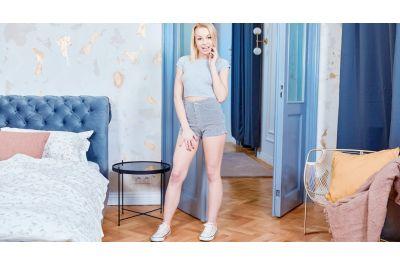 Hot Blonde Plays Hot Games - Rebecca Black - VR Porn - Image 1