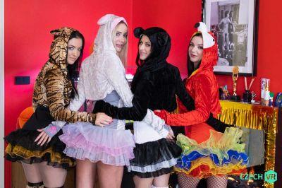 Welcoming New Year: Part 1 - Billie Star, Lady Gang, Venera Maxima, Zuzu Sweet - VR Porn - Image 2