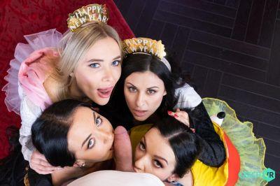 Welcoming New Year: Part 1 - Billie Star, Lady Gang, Venera Maxima, Zuzu Sweet - VR Porn - Image 6