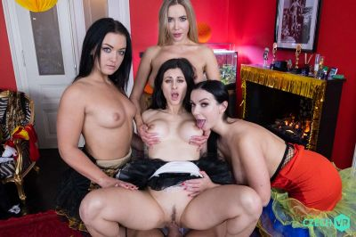 Welcoming New Year: Part 1 - Billie Star, Lady Gang, Venera Maxima, Zuzu Sweet - VR Porn - Image 12