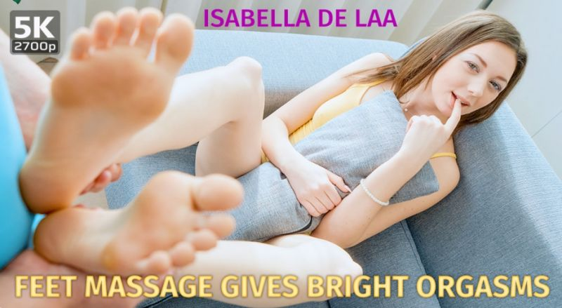 Feet Massage Gives Bright Orgasms feat. Isabela De Laa - VR Porn Video