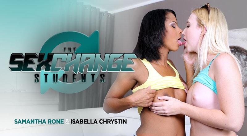 Sexchange Student feat. Isabella Chrystin, Samantha Rone - VR Porn Video