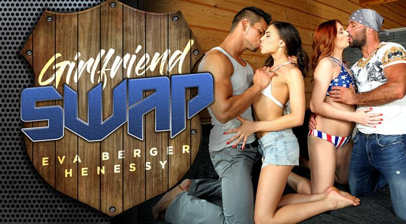 Girlfriend Swap feat. Eva Berger, Henessy - VR Porn Video