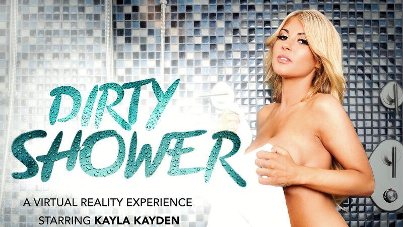 Dirty Shower feat. Kayla Kayden, Damon Dice - VR Porn Video