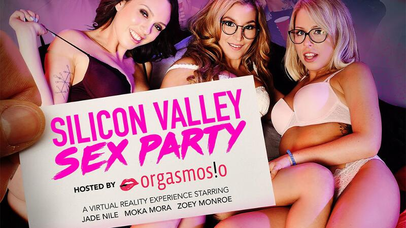 Silicon Valley Sex Party feat. Jade Nile, Moka Mora, Zoey Monroe, Dylan Snow, Ryan Driller - VR Porn Video