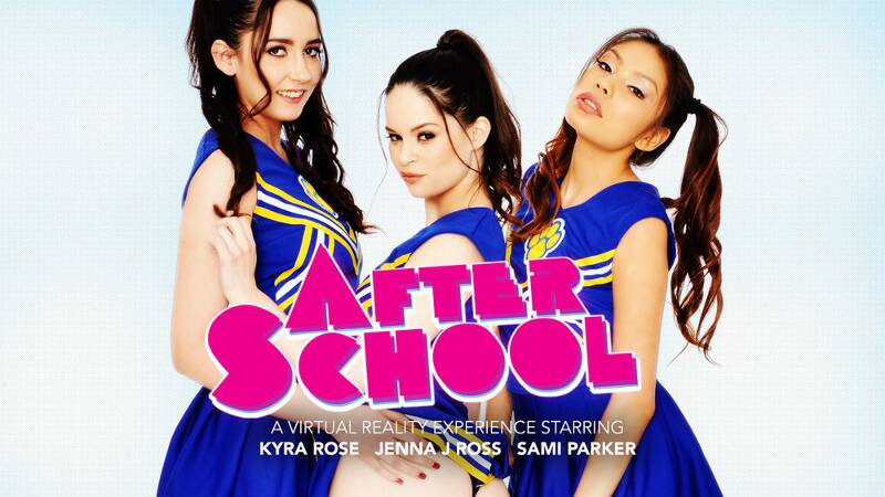 After School feat. Jenna J Ross, Kyra Rose, Sami Parker, Ryan Driller - VR Porn Video