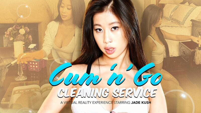 Cum 'n' Go Cleaning Service feat. Jade Kush, Ryan Driller - VR Porn Video