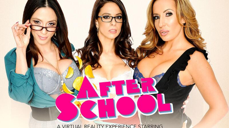 After School feat. Ariella Ferrera, Eva Long, Richelle Ryan, Dylan Snow - VR Porn Video