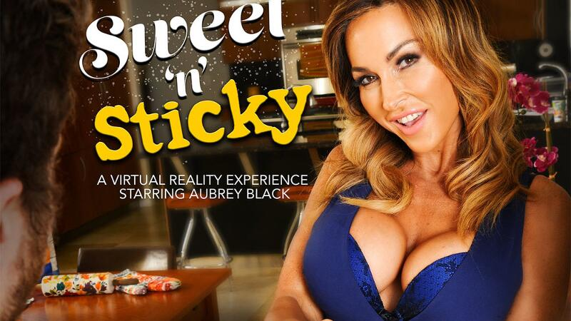 Sweet 'n' Sticky feat. Aubrey Black, Dylan Snow - VR Porn Video