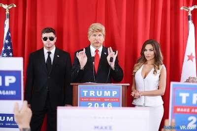 The Donald Trump Sex Tape: A XXX Parody - Edyn Blair, Subil Arch - VR Porn - Image 6