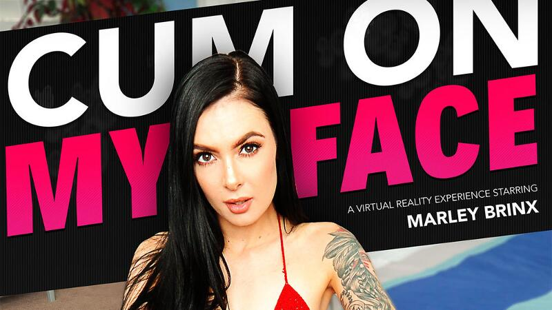 Cum On My Face feat. Marley Brinx, Bambino - VR Porn Video