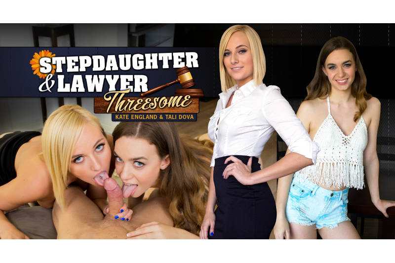 Stepdaughter Lawyer Threesome feat. Kate England, Tali Dova - VR Porn Video