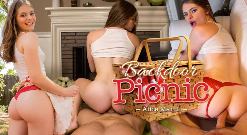 Backdoor Picnic feat. Alice March - VR Porn Video