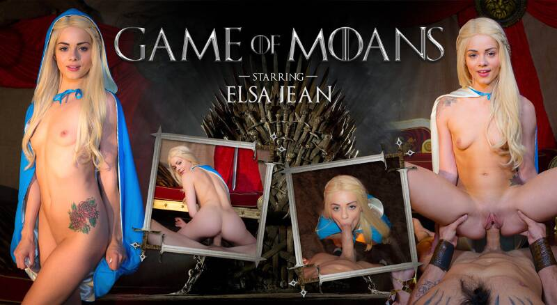 Game of Moans feat. Elsa Jean - VR Porn Video