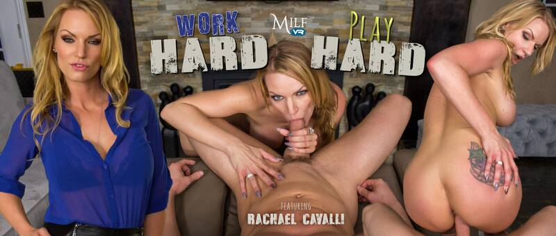 Work Hard, Play Hard feat. Rachael Cavalli - VR Porn Video