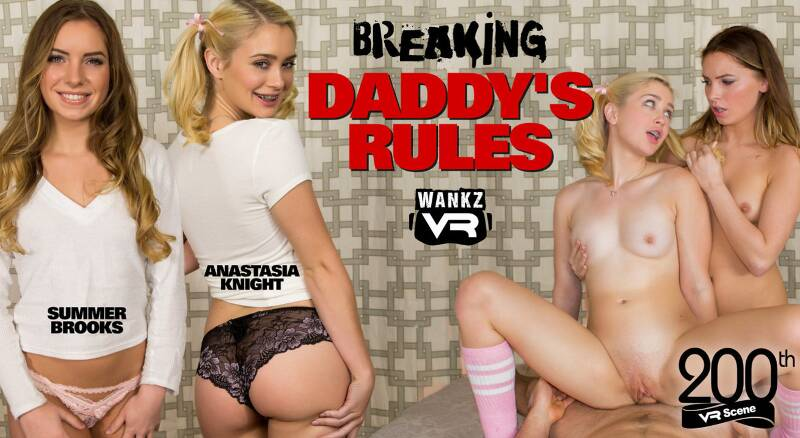 Breaking Daddy's Rules feat. Anastasia Knight, Summer Brooks - VR Porn Video