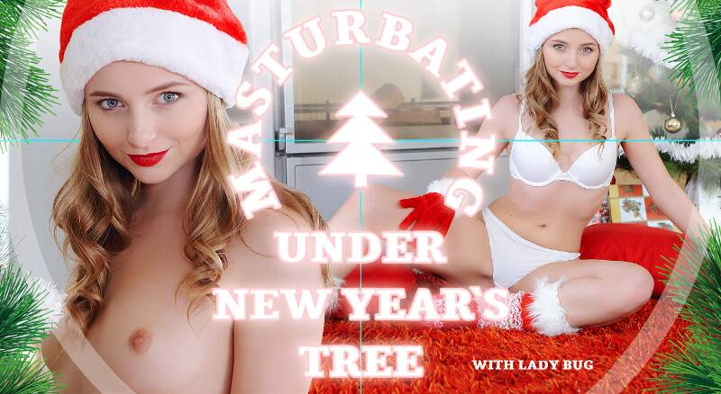 Masturbating under New Year's tree feat. Lady Bug - VR Porn Video