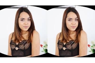 Cute Babe in Black Lingerie - Esperanza Del Horno - VR Porn - Image 44