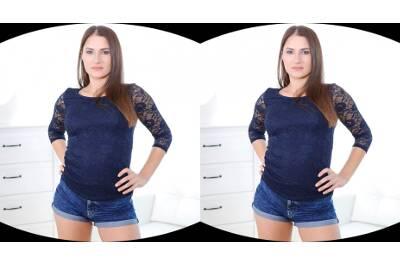 Steamy Solo in Tight Shorts - Ellen Betsy - VR Porn - Image 1