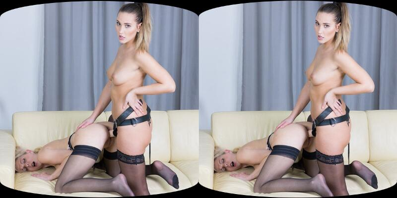 Lesbian Strap-On feat. Julia Parker, Naomi Bennet - VR Porn Video