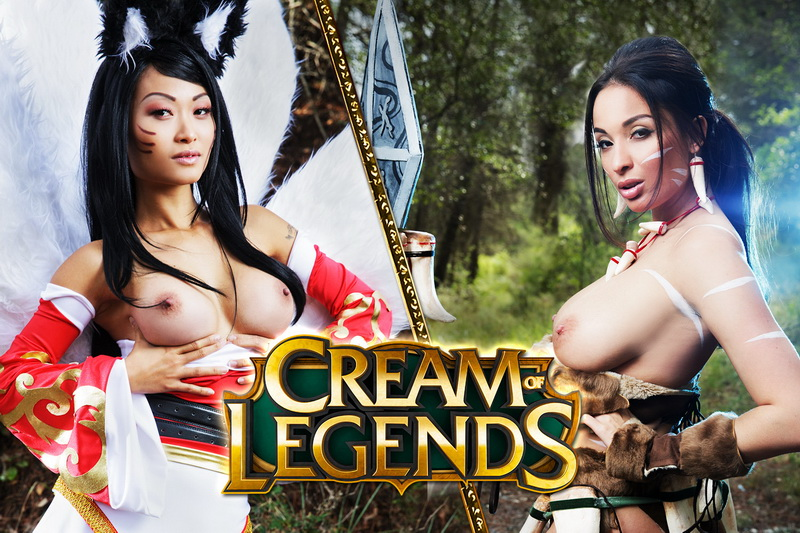 Cream of Legends feat. Anissa Kate, Pussy Kat - VR Porn Video